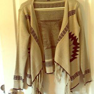 Double Zero open sweater